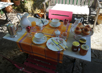 Petit Déjeuner Terrasse Clos Rodolphe